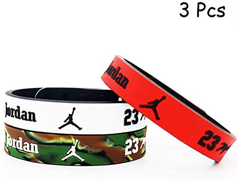 One of The Five is Adjustable Sports Fans Silicone Wristband Bracelet 3PCS Assorted Color