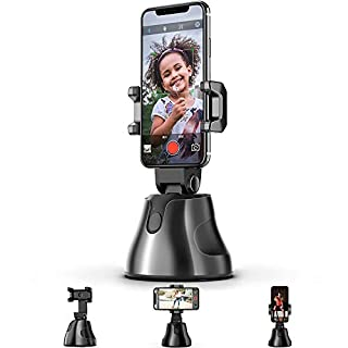 Selfie Stick,Prosvet 360°Rotation Auto Face&Object Tracking Smart Shooting Camera Phone Mount,Cature 360°Camera Men Selfie Mount Auto Countdown Compatible with All iPhone and Android Phone (Black)