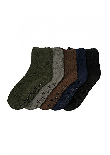 Mamia 6 Pairs Women's Cozy Slipper Socks Fuzzy Sock Multi Color (Style 12)