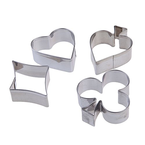 New Arrival 4pcs Stainless Steel Poker Fondant Biscuit Pastry Cookie Cutter Mold Tool Set