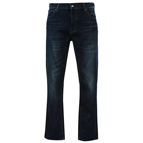 Firetrap Rom Herren Jeans Freizeit Denim Hose Jeanshose Straight Fit Baumwolle Blau 30W R