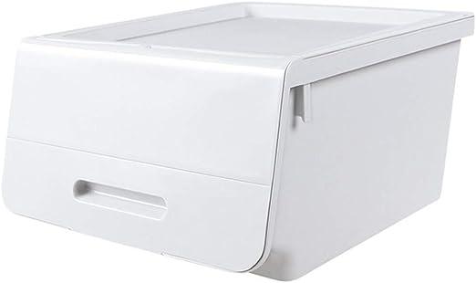 Angela Almacenamiento Acabado Caja Plástico Tirón Armario Armario Ropa Juguete Apertura Frontal Diseño Teniendo Fuerte Superpuesta Fácil Fácil de clasificar,Gray: Amazon.es: Hogar