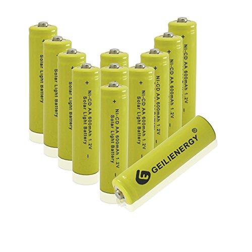 GEILIENERGY Solar Light AA Ni-CD 600mAh Rechargable Batterie