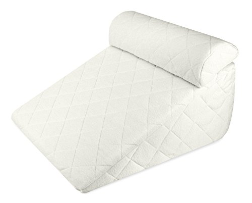 Deluxe Comfort Hypoallergenic Memory Foam Set-Therapeutic Neck and Back Promotes Healthy Sleep-Two Piece Incline Wedge System-Bed Pillow, 24