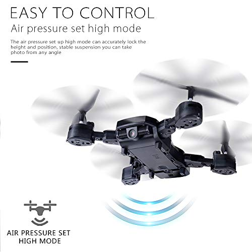 Wifi FPV RC Drone Quadcopter with 2.0MP HD Camera 4 Channel 2.4 GHz 6-Gyro For kids,Outdoor Racing Controllers Helicopter Sky Rover,Rc Airplane,RC Helicopter,Drones Parts,Remote Control (Black)