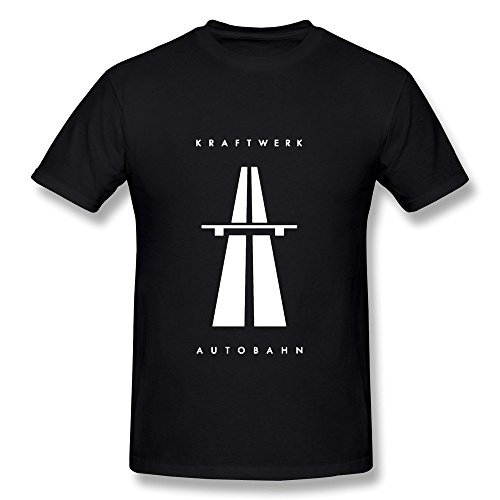 HUBA Men's T Shirts Kraftwerk Autobahn Black Size XXL (Autobahn Apparel)