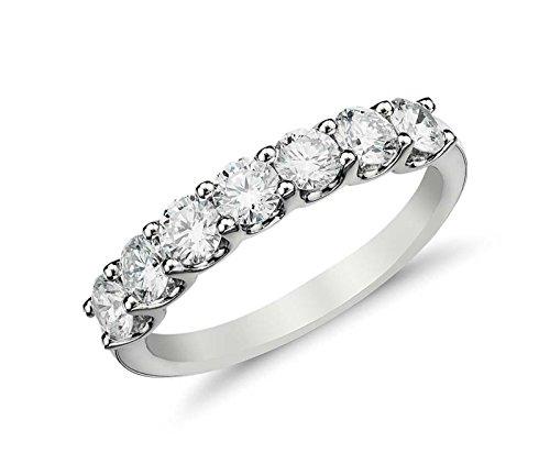 Clara Pucci 1.25 Ct Round Cut Halo Pave Bridal Engagement Wedding Anniversary Ring Band 14K White Gold, Size 6.25
