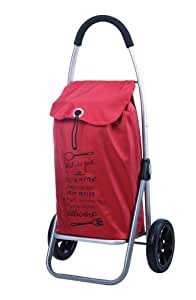 Play - Carro compra plegable 2 ruedas go two rojo