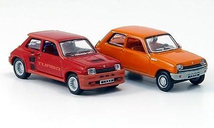 Renault 5, 2er-Set: TL, anaranjado (1972) & Turbo,