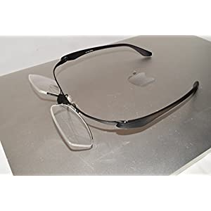 iCompWear 'Mag'- Flip-Up Magnification Special Computer Glasses Helps You See Better at Computer Anti Fatigue, Relieves Eye Strain. Stylish, Unisex. FREE Case & Cleaning Cloth