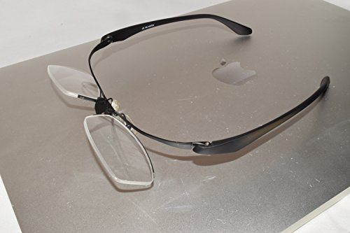 iCompWear 'Mag'- Flip-Up Magnification Special Computer Glasses Helps You See Better at Computer Anti Fatigue, Relieves Eye Strain. Stylish, Unisex. FREE Case & Cleaning - Glasses Flip Up That