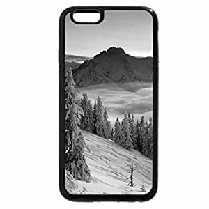 iPhone 6S Case, iPhone 6 Case (Black & White) - Purple Winter Twilight