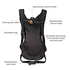 Pinty Hydration Backpack Packs with Water Bladder Outdoor Climbing Hiking Cycling Bag Pack