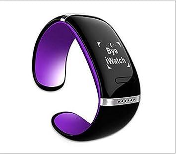 IndustryClub OLED elegante reloj telefono Reloj Bluetooth del telefono para Android Samsung iPhone (Morado): Amazon.es: Electrónica