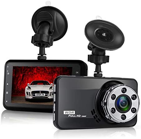Dash Cam, Uidoks 1080P Full HD 3.0 LCD Car Camera Video Recorder 170 Wide Angle Dashboard DVR Camcorder Built-in G-Sensor WDR Night Vision Loop Recording Motion Detection