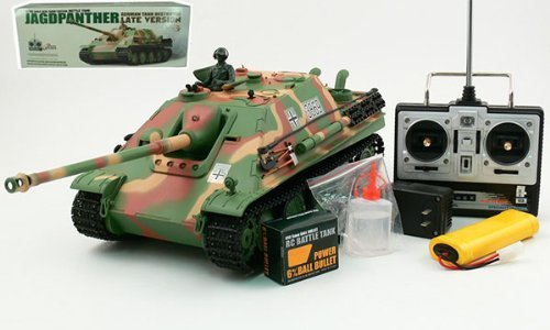 Heng Long 1:16 German JAGDPanther Late Version Tank Destroyer Radio Controlled RC Airsoft Tank w/Smoke and Sound