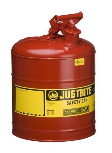Justrite 5 Gallon Justrite (19L) Steel Compliant Safety Type 1 Can for Flammables