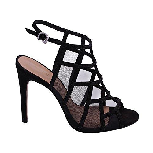 de Vicenza Vestir Negro para Sandalias Mujer 55UrFO