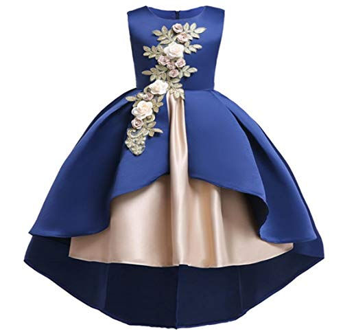 Flower Little Big Girls Lace Bridesmaid Dress Kids Wedding Party Birthday Pageant Toddler Princess Formal Dresses