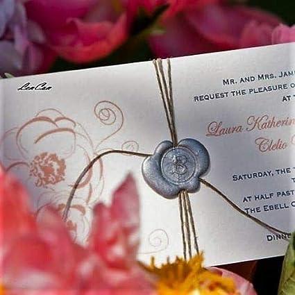 inviaci le tua iniziali Timbro di sigillo per ceralacca personalizzato Per per lettera busta biglietto matrimonio 25 mm