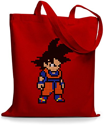 StyloBags Jutebeutel / Tasche Pixel Goku Rot
