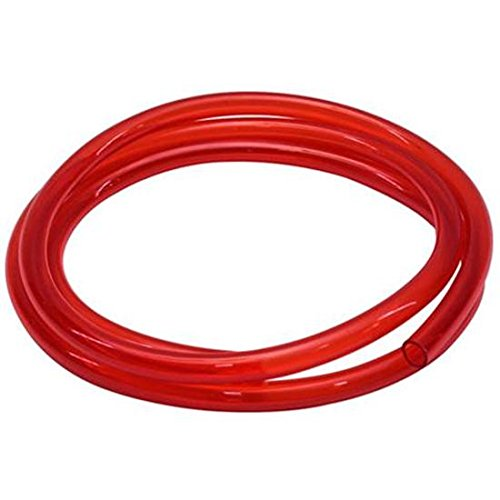 Red See-Through Fuel Line Hose, 3/8 Inch I.D. x 6 Ft.