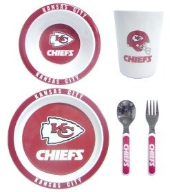 (Kansas City Chiefs Children's Dinner Set)
