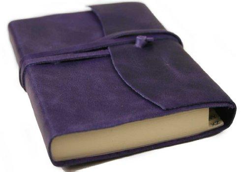 Amalfi Aubergine Handmade Italian Leather Address Book (9cm x - Italian Aubergine