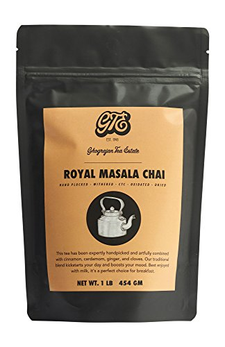 Loose Leaf Chai Tea (200+ Cups) - Fresh 2019 Harvest - Indian Assam Black Tea Blended with Cinnamon, Cloves, Ginger and Cardamom - Direct from Our Family-Owned Estate in India - 1 Pound Bulk Pouch