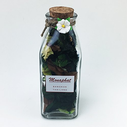 MONAPHAT 아름다운 유리 병 디자인 장식 레몬 향기 포푸리 PR-0605