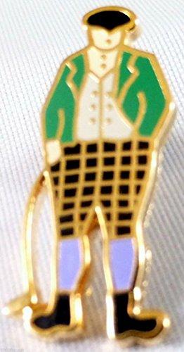 Golf Player Golfer Man Enamel and Metal Small Pin ()