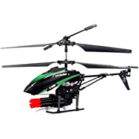 WLtoys V398 Helicopter Missile Shooting Helicopter. RC Helicopter Shoots Missiles RC Shooting HOT! RTF with Six Missiles rapid fire RC Helicopter that Shoots (Green)