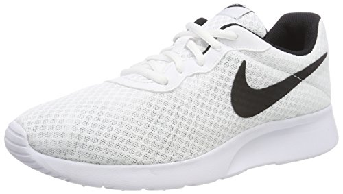 (Nike Mens Tanjun Running Sneaker White/Black10.5 )