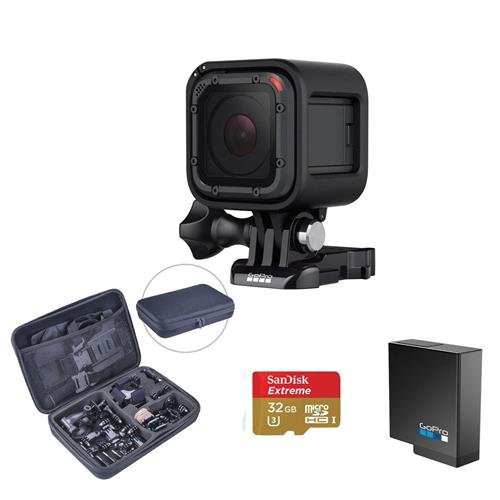 GoPro Hero5 Session - Bundle with 32GB MicroSDHC U3 Card, Froggi Extreme Sport Action Camera Accessory Set