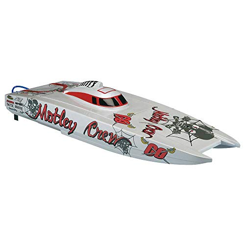 Aquacraft Models Motley Crew Ready-to-Run Radio Controlled Brushless Fast Electric Catamaran