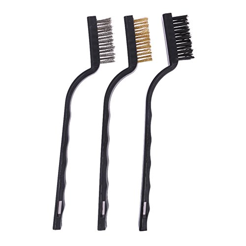 - Metal Rust - 3pcs Plastic Handle Wire Brush Stainless Steel Brass Cleaning Polishing Detail Metal Rust Clean - Primer Activator Spray Gel Converter Trash Organizer Chairs Removal Paint