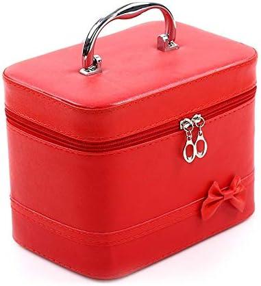 ZengBuks Organisateur de sac cosmétique grande capacité sac à main étanche portable femmes voyage beauté maquillage sac Rouge