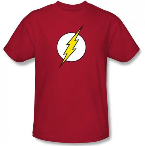 Mens Officially Licensed DC Comics Flash Logo T-Shirt (XL, Red)