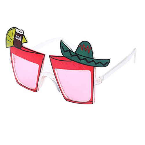 Baoblaze Novelty Cocktail Glass Shaped Sunglasses Summer Party Fancy Dress Accessories