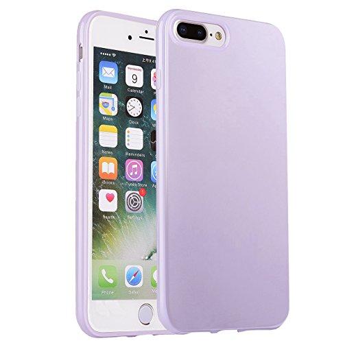 iPhone 7 Plus Case, Manleno iPhone 8 Plus Case Soft Jelly Case Flexible TPU Cover Case for iPhone 7 Plus 8 Plus 5.5 inch (Lavender)