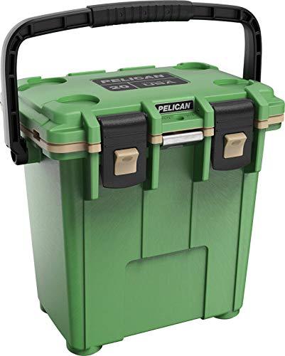 Pelican Elite 20 Quart Cooler (Cactus Green/Coyote) (Renewed) (Tie Pelican Green)