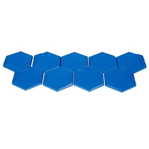 The Broken Token 3D Ocean Hex Tiles for Terraforming Mars (9) by The Broken Token