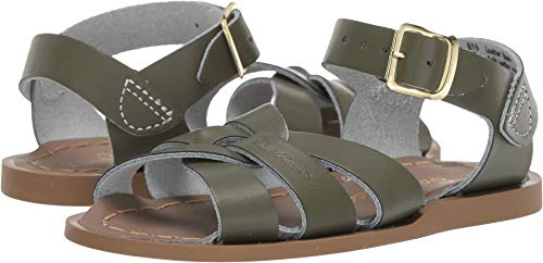 Salt Water Sandals by Hoy Shoes Baby Girl's The Original Sandal (Infant/Toddler) Olive 7 M US Toddler