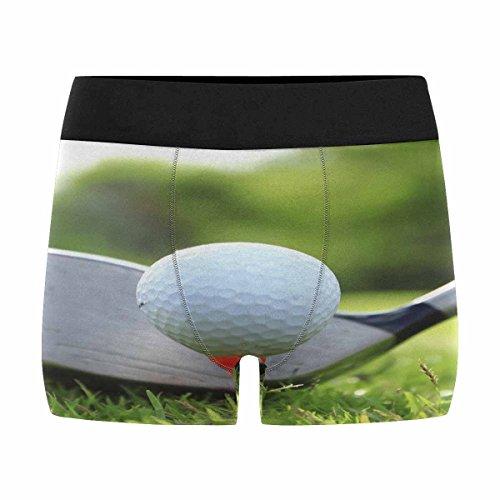 (INTERESTPRINT Men's All-Over Print Boxer Briefs Golf Ball L)