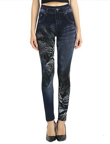 YFLTZ amp; Couleur Gland Femme Solide Pantalon Blue Noir Active Blanc Jeans pour 484rwq