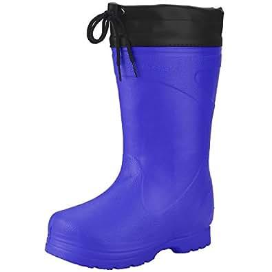 Amazon.com | Men's Waterproof Rain Boot Mid Calf Winter Snow Warm Boots Garden Fishing Outdoor