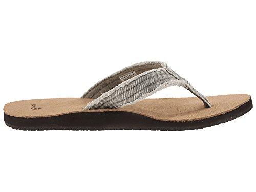 Sanuk Mens Fraid Zo Bruin / Bruin Multi-sandaal Olijf