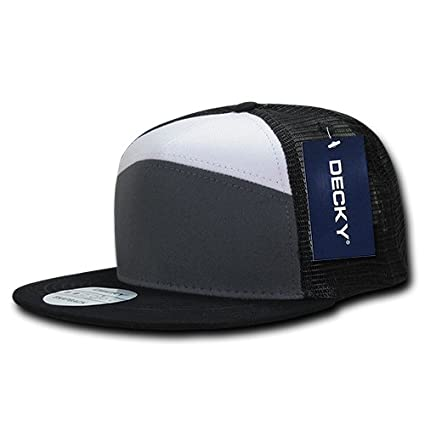 a4dbdcf975cfc Image Unavailable. Image not available for. Color  DECKY 1133-CHAWHTBLK 7  Panel Trucker ...