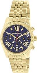 Michael Kors MK6206 Ladies Lexington Gold Plated Chronograph Watch