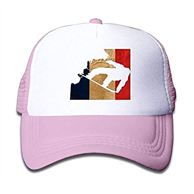 Boys&Girls Snowboarding Flag of France Mesh Hat Summer Snapback Baseball Caps Adjustable Trucker Caps